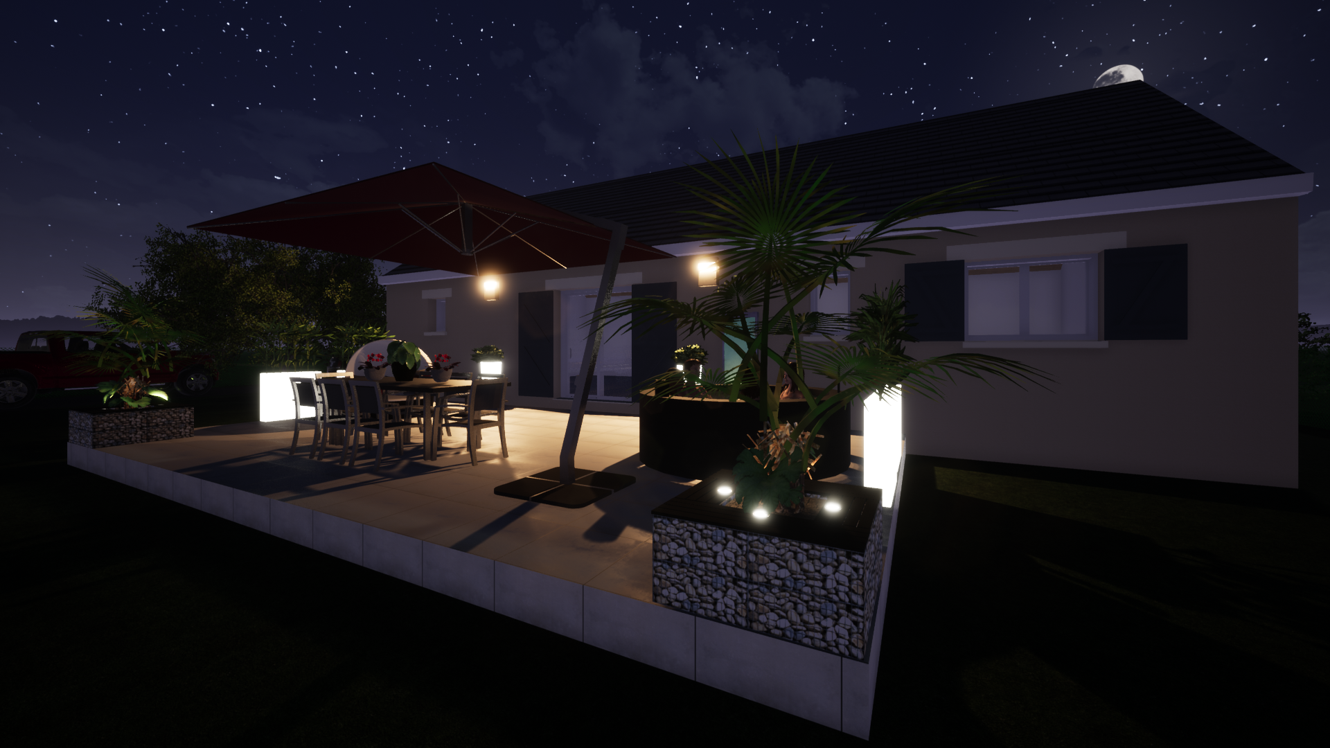 Conception d'un espace terrasse